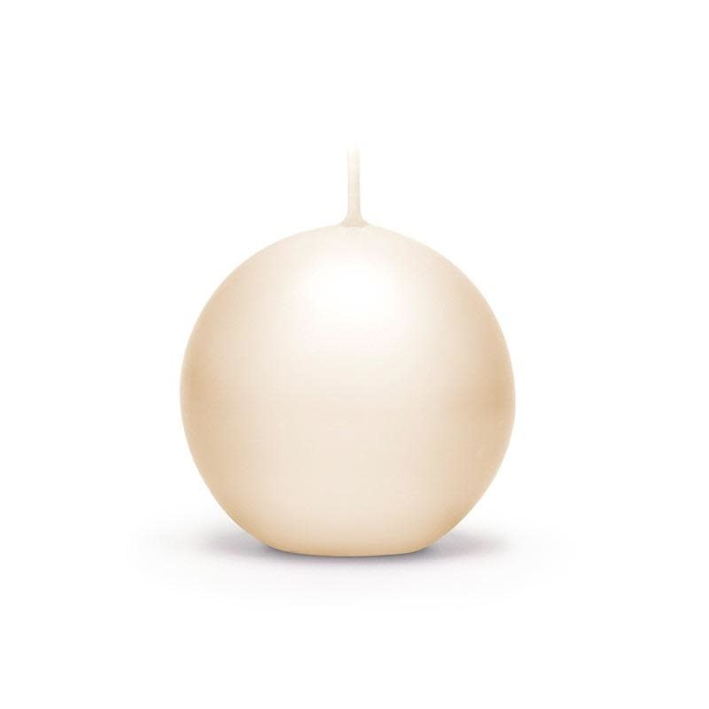 Candle Ivory Lacquered Sphere D.7.5cm-1