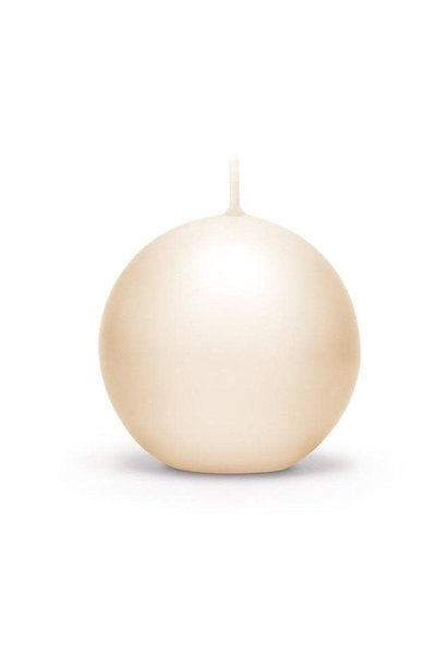 Candle Ivory Lacquered Sphere D.10cm