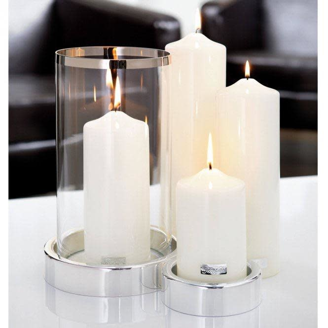 White Lacquered Altar Candle 15x8cm-2