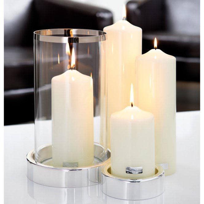 Candle Cream Lacquered Altar 15x8cm-2