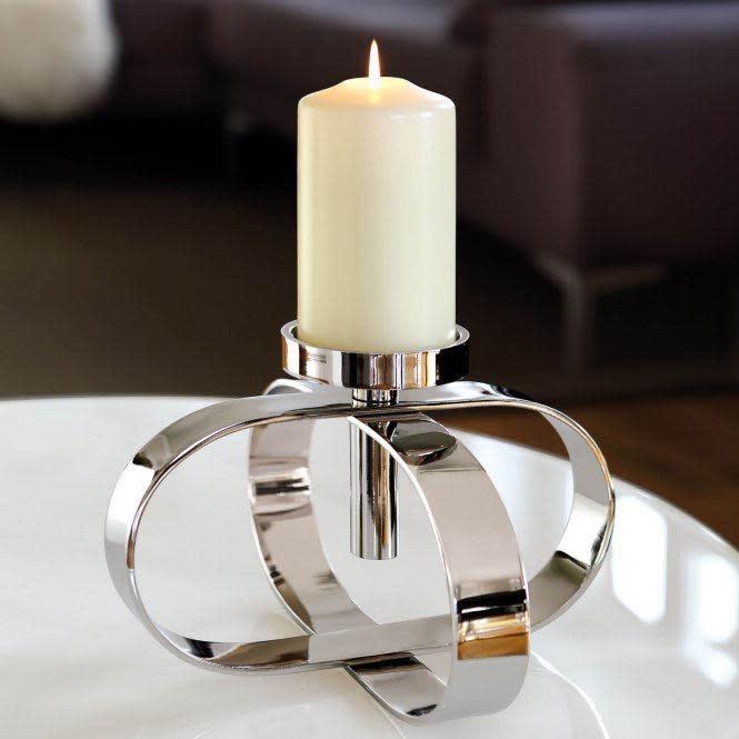 Candle Cream Lacquered Altar 15x8cm-3