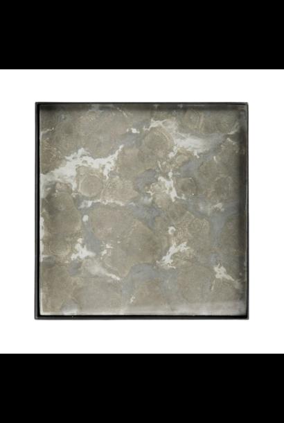 Plateau Fossile Organique Carré 16x16cm