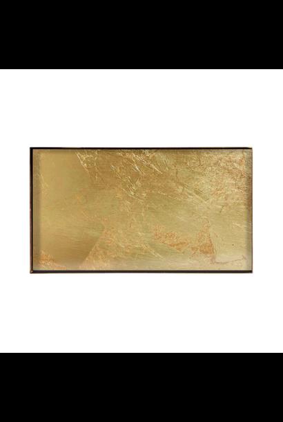 Plateau Rectangle Feuille Or 31x17cm