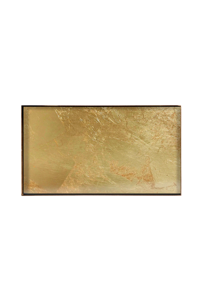 Tray Rectangle Gold Leaf 31x17cm