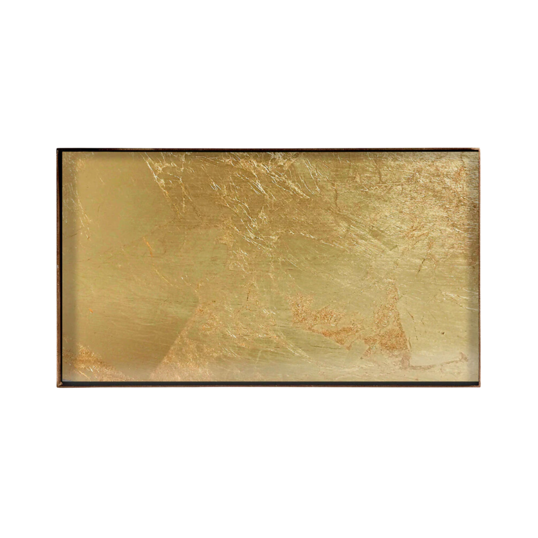Tray Rectangle Gold Leaf 31x17cm-1