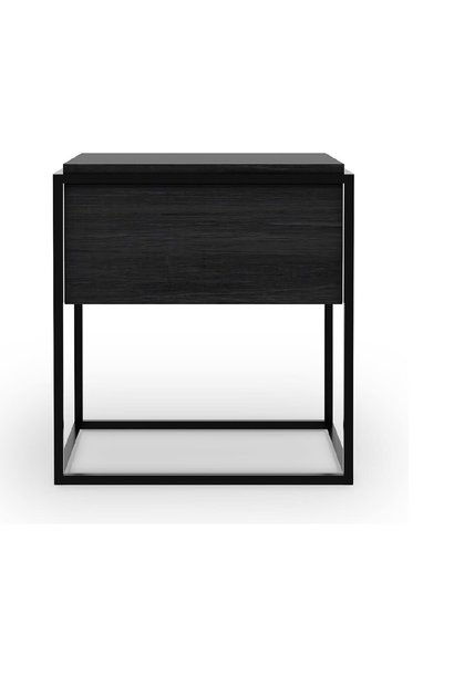 Table Chevet Noir Chene Monolit - 48x48x51cm