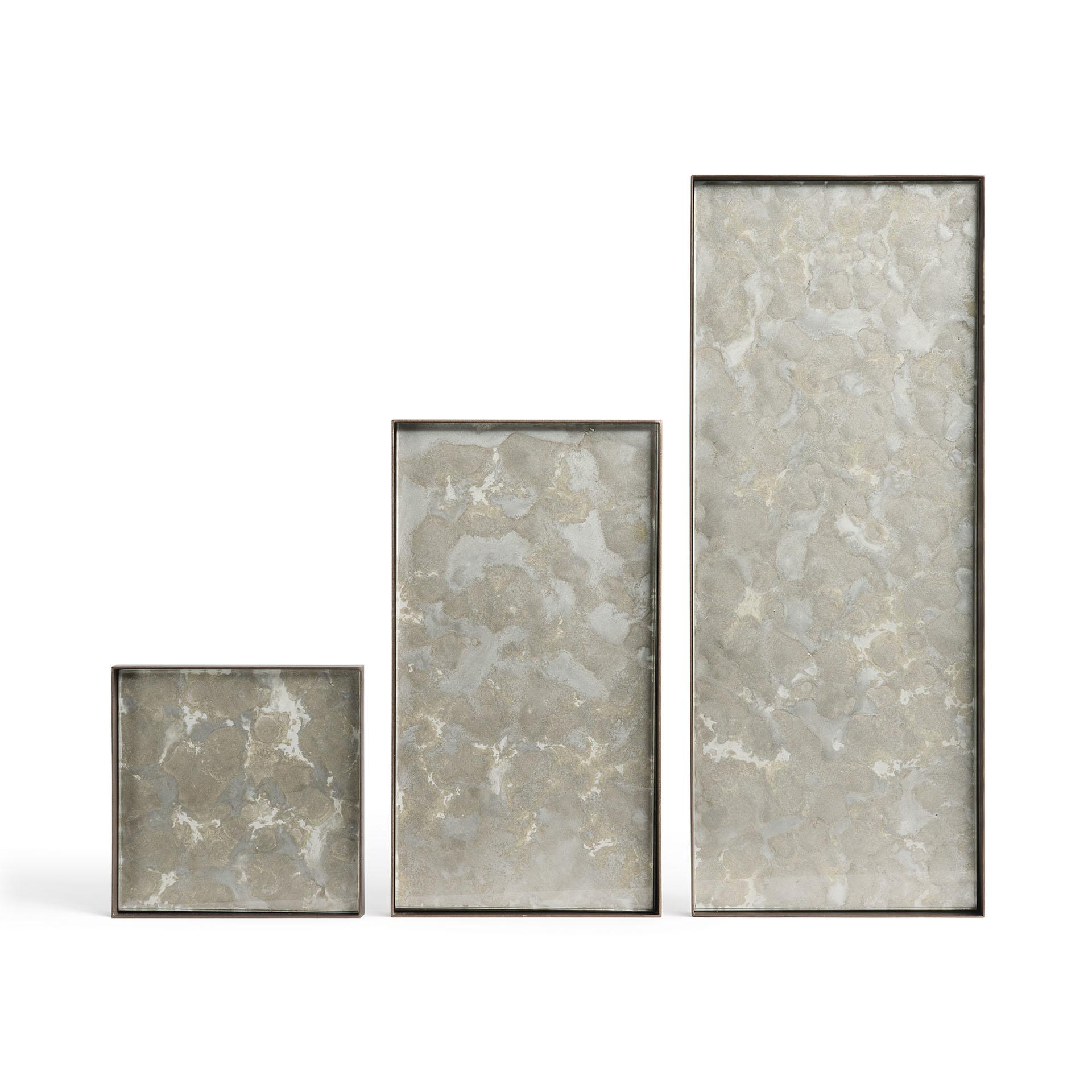 Tray Rectangle Organic Fossil 31x17cm-3