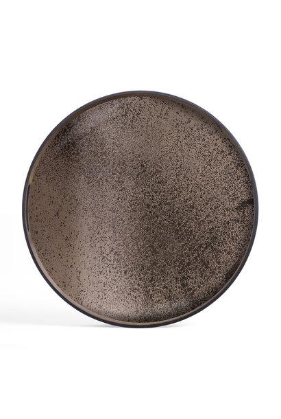 Plateau Miroir Bronze S