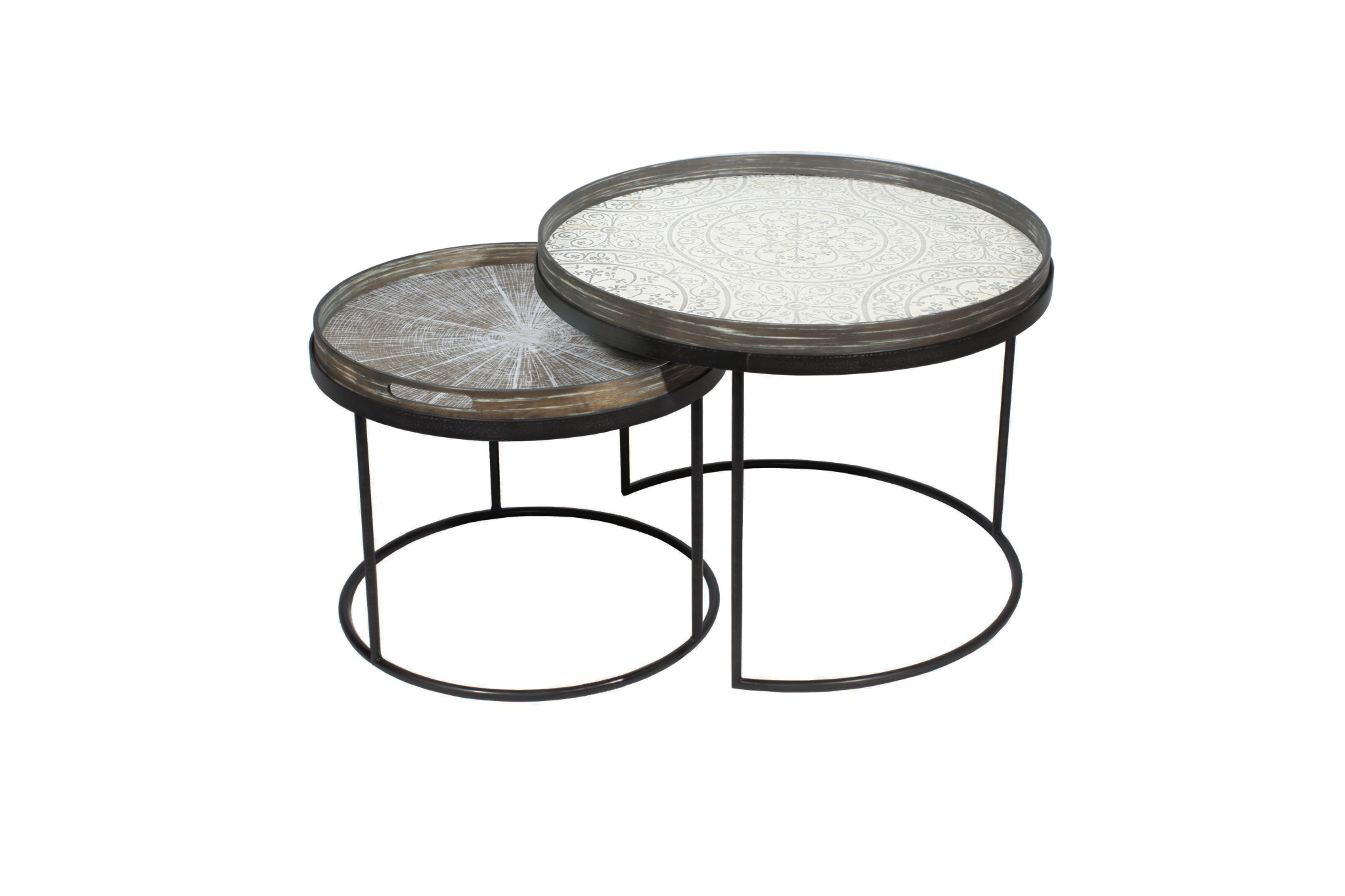 Set Coffee Tables Trays S / L-4
