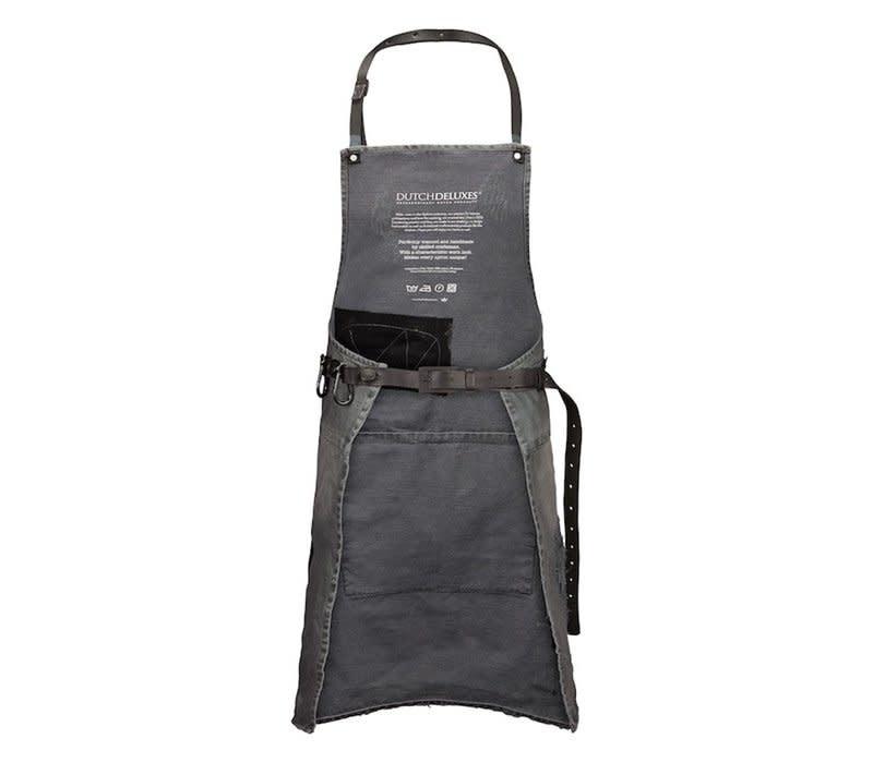 Barbecue Apron Denim Distressed Gray-2