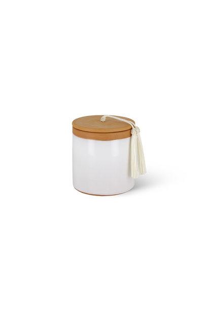 Candle Céramique Agafay Figuier Rose White S