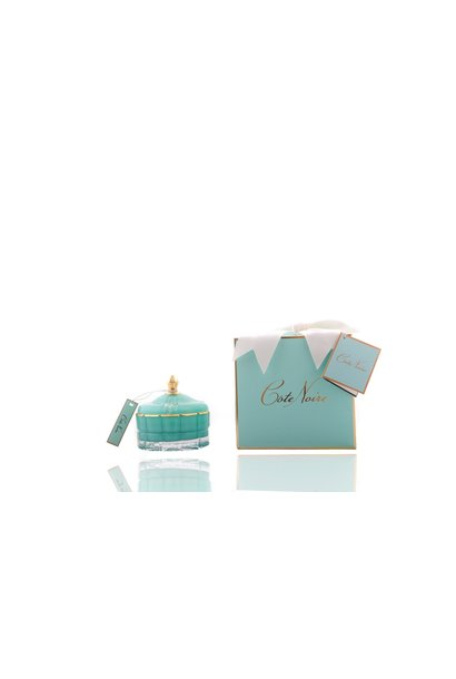 Candle Art Deco Turquoise Small