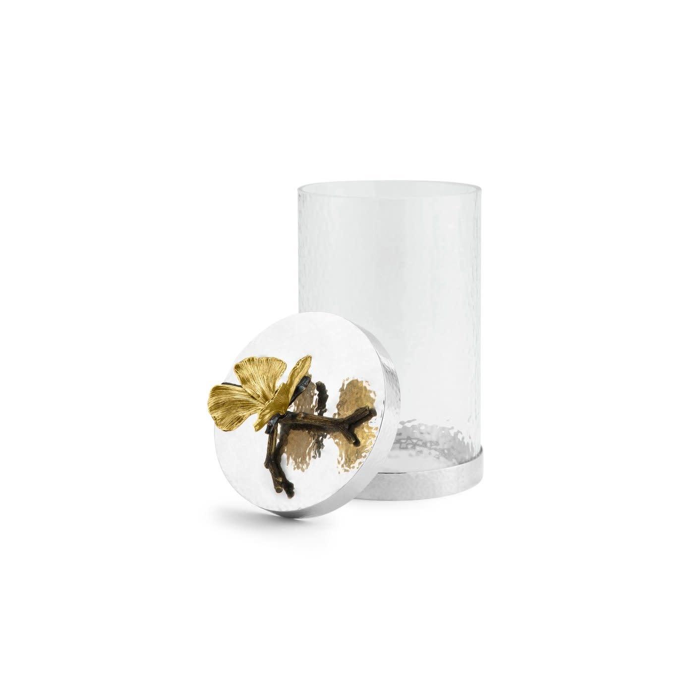 Jar Butterfly Ginkgo Glass + Lid GM-2