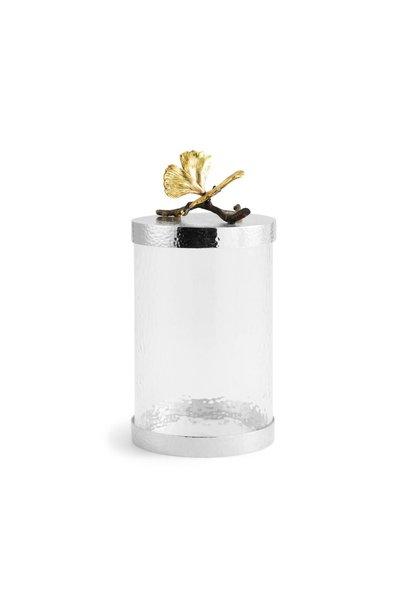 Jar Butterfly Ginkgo Glass + Lid GM