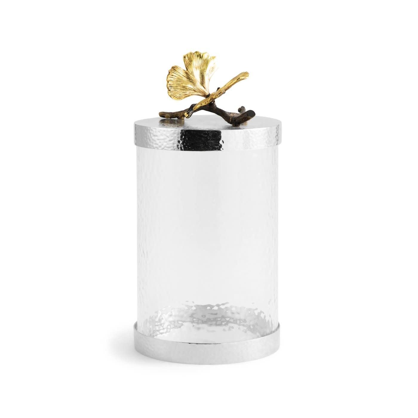 Jar Butterfly Ginkgo Glass + Lid GM-1