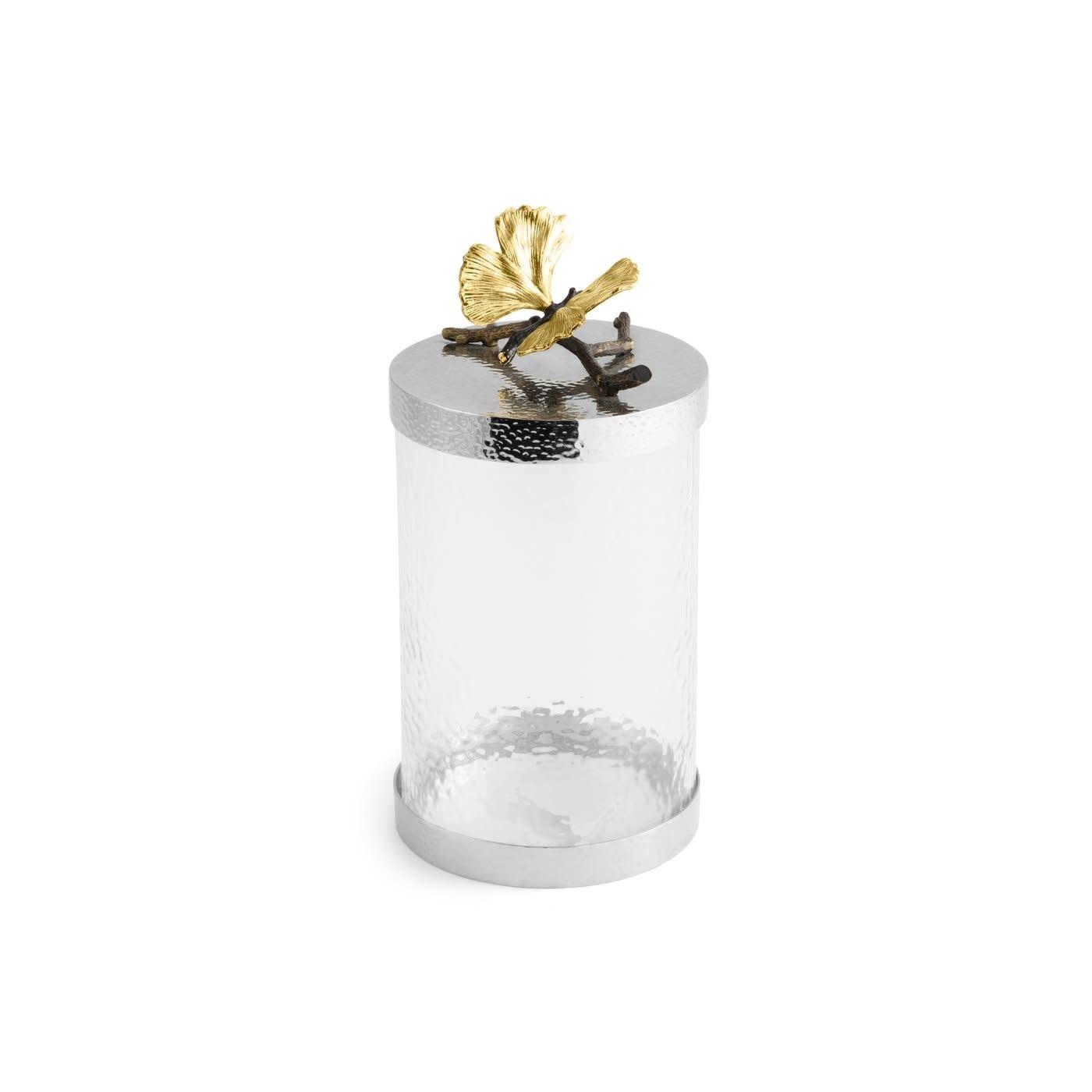 Jar Butterfly Ginkgo Glass + Lid GM-3