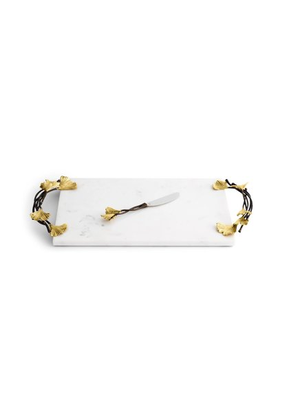 Golden Ginkgo Cheese Board - Large (with knife)