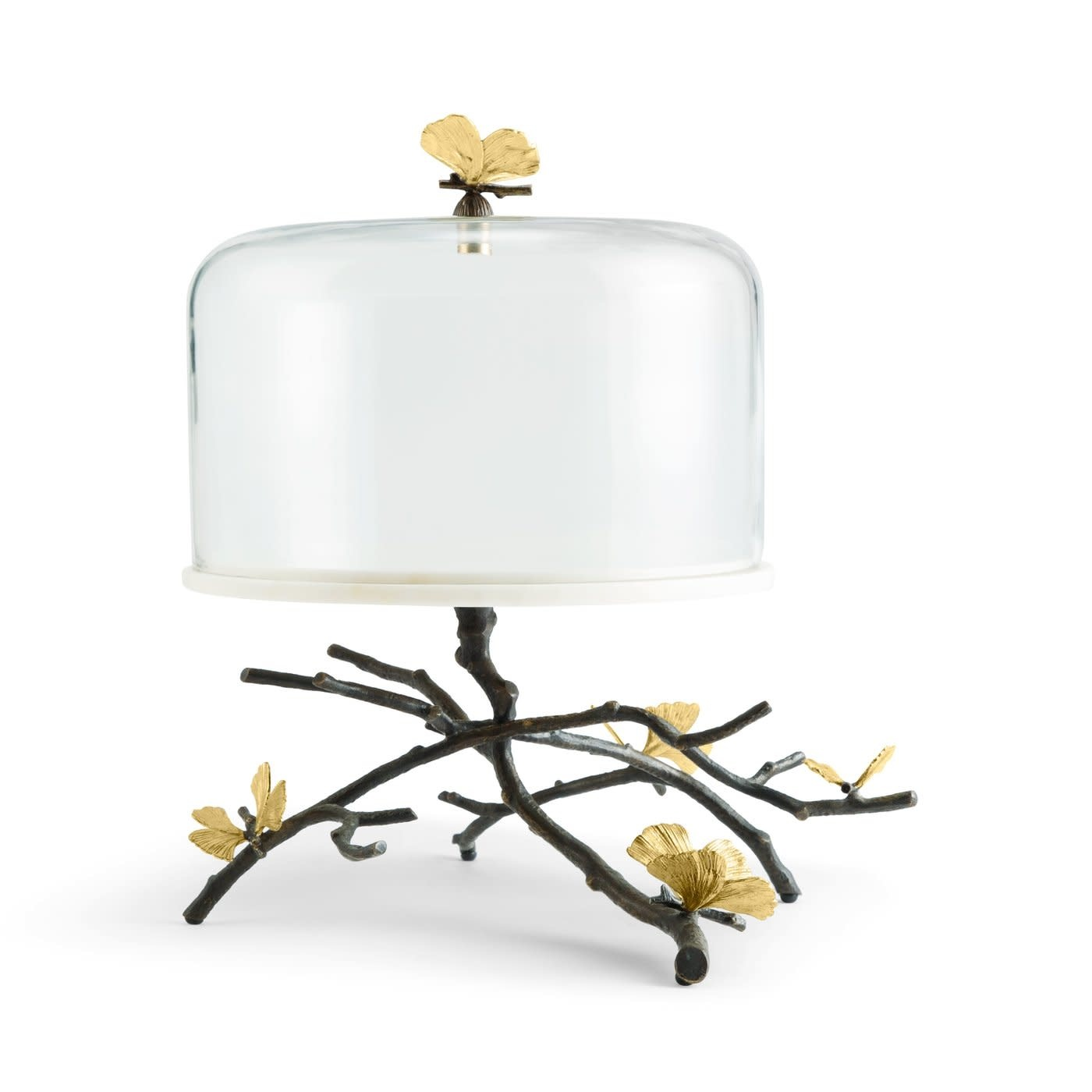 Cake Dish With Bell Butterfly Ginkgo-1