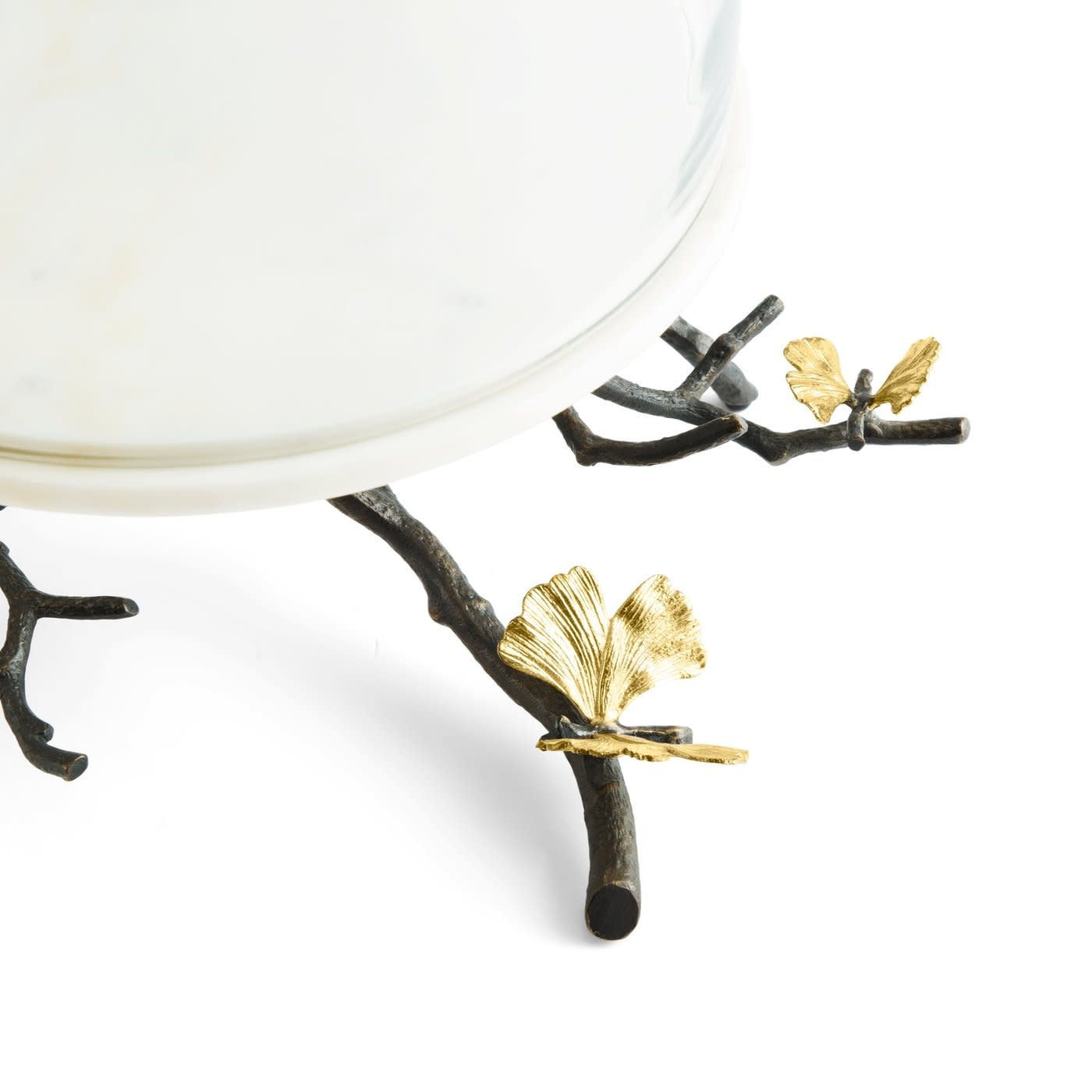 Cake Dish With Bell Butterfly Ginkgo-2