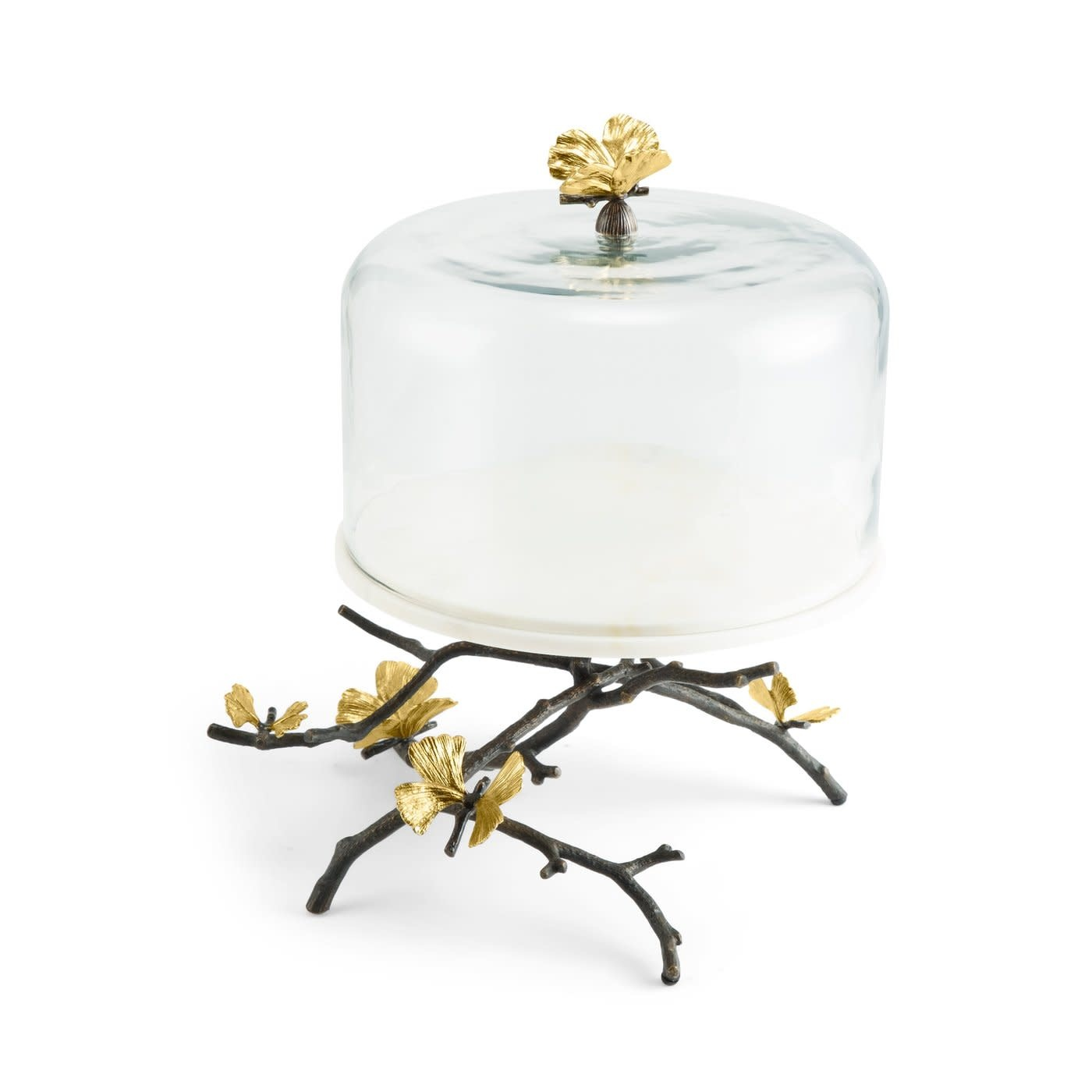 Cake Dish With Bell Butterfly Ginkgo-4