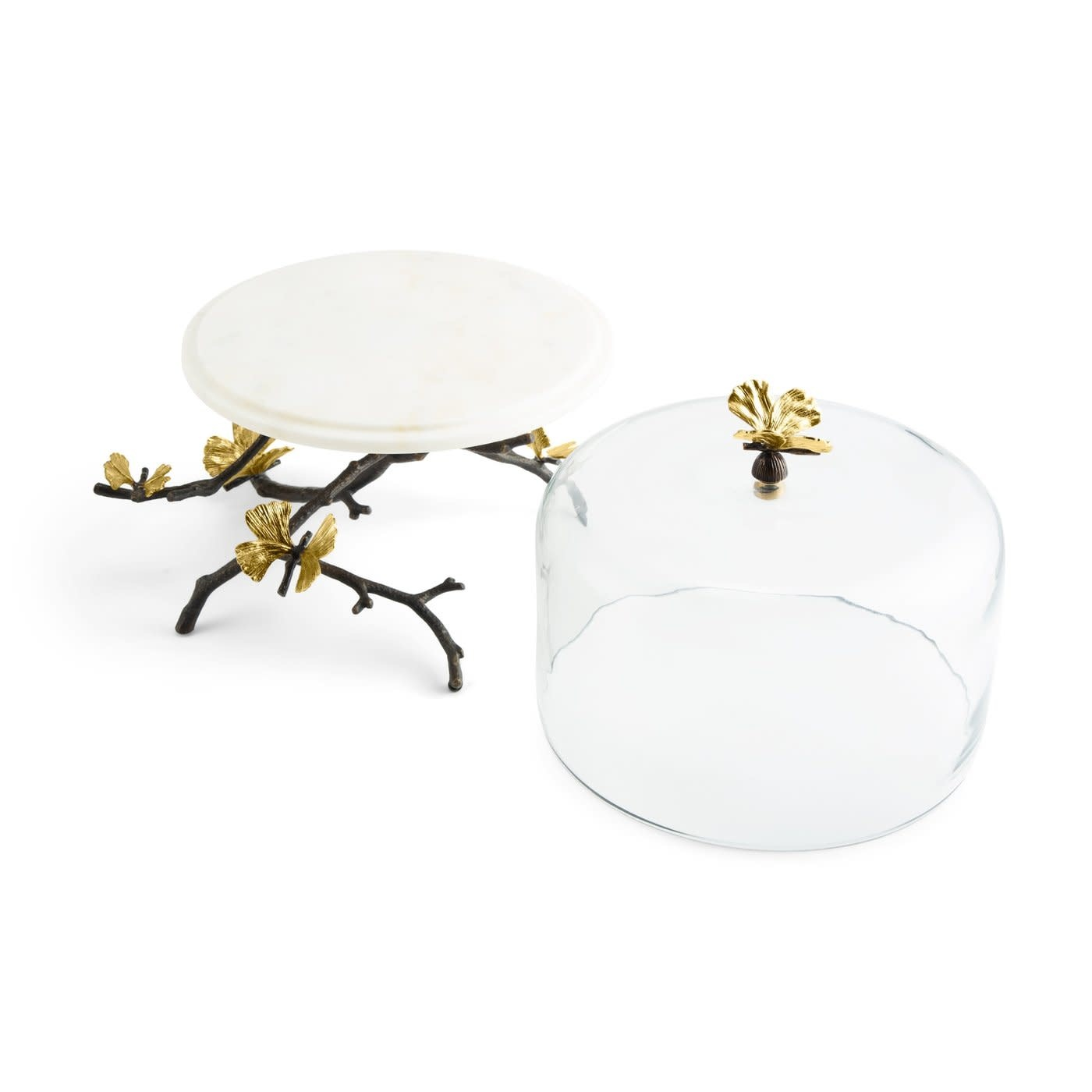 Cake Dish With Bell Butterfly Ginkgo-5