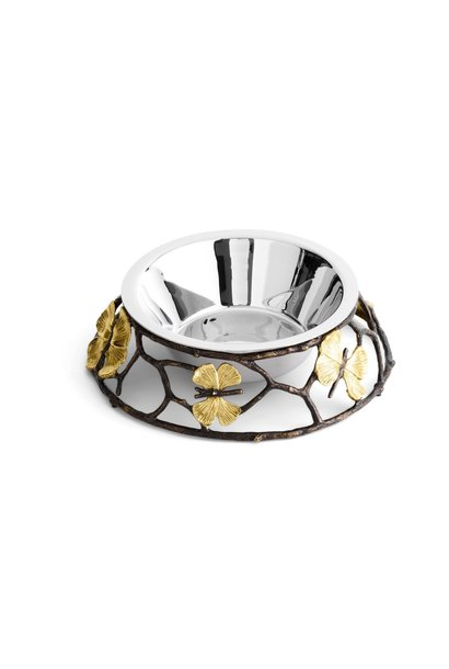 Large Ginkgo Butterfly Dog Bowl