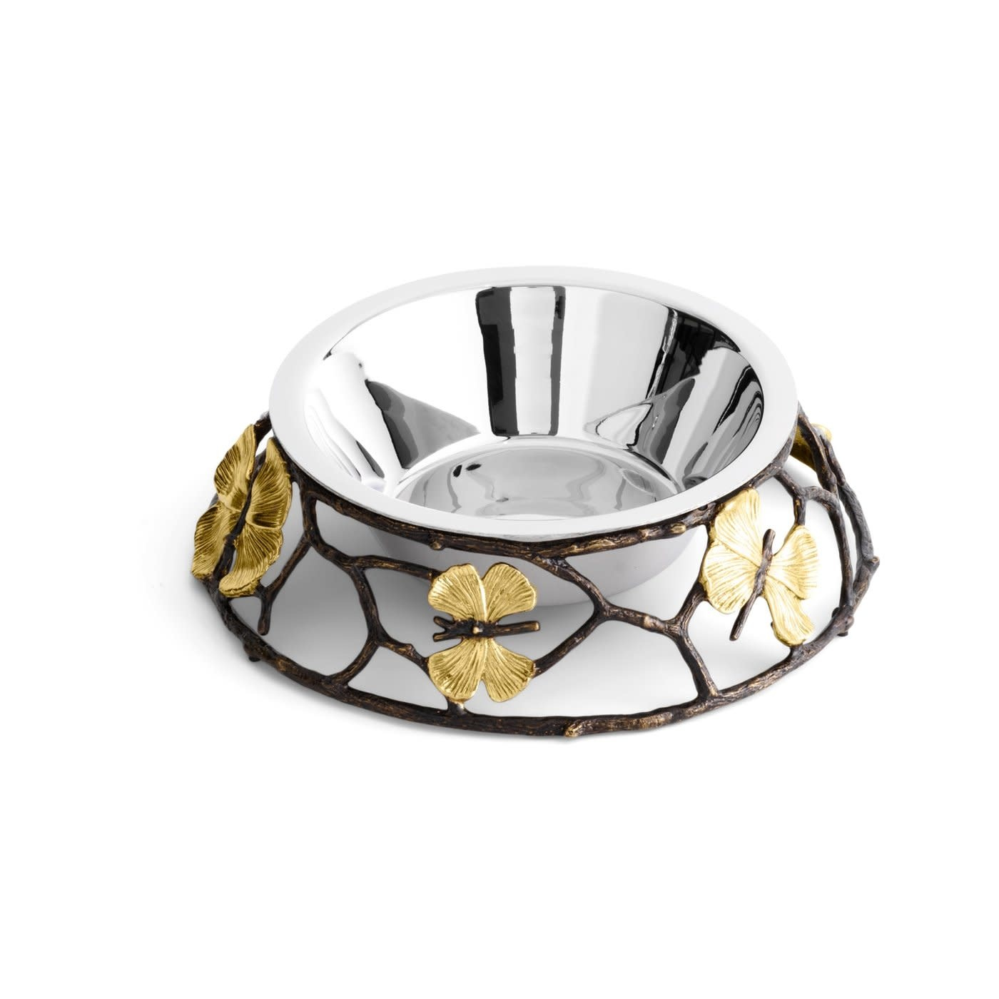 Large Ginkgo Butterfly Dog Bowl-1