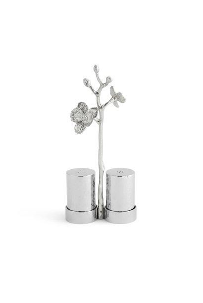 White Orchid Salt & Pepper Set