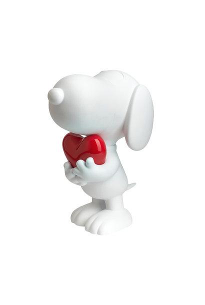 Snoopy  Blanc Glossy & Chrome Coeur Rouge 27cm