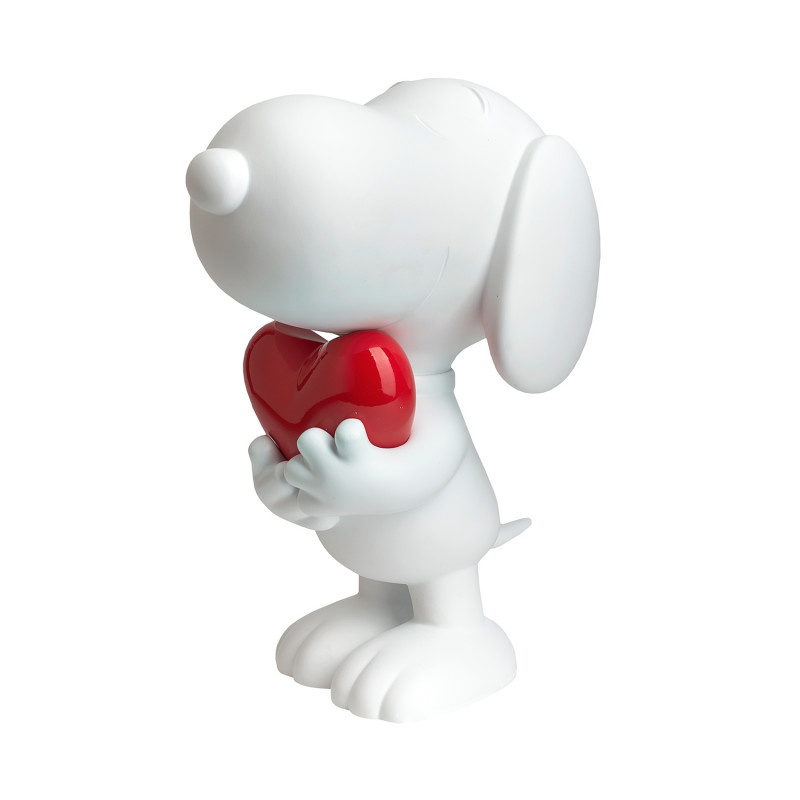 Snoopy White Glossy & Chrome Red Heart 27cm-1