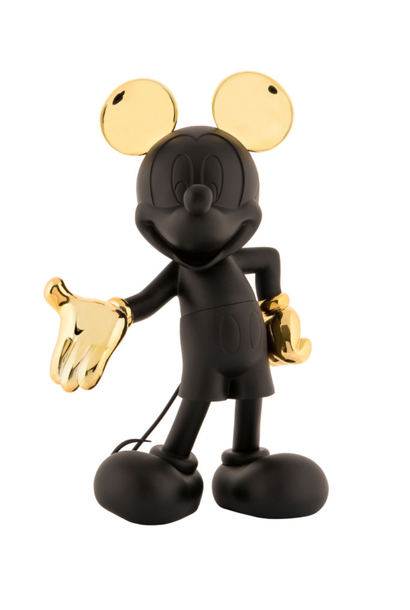 Mickey Welcome Bicolore Noir & Or 30cm