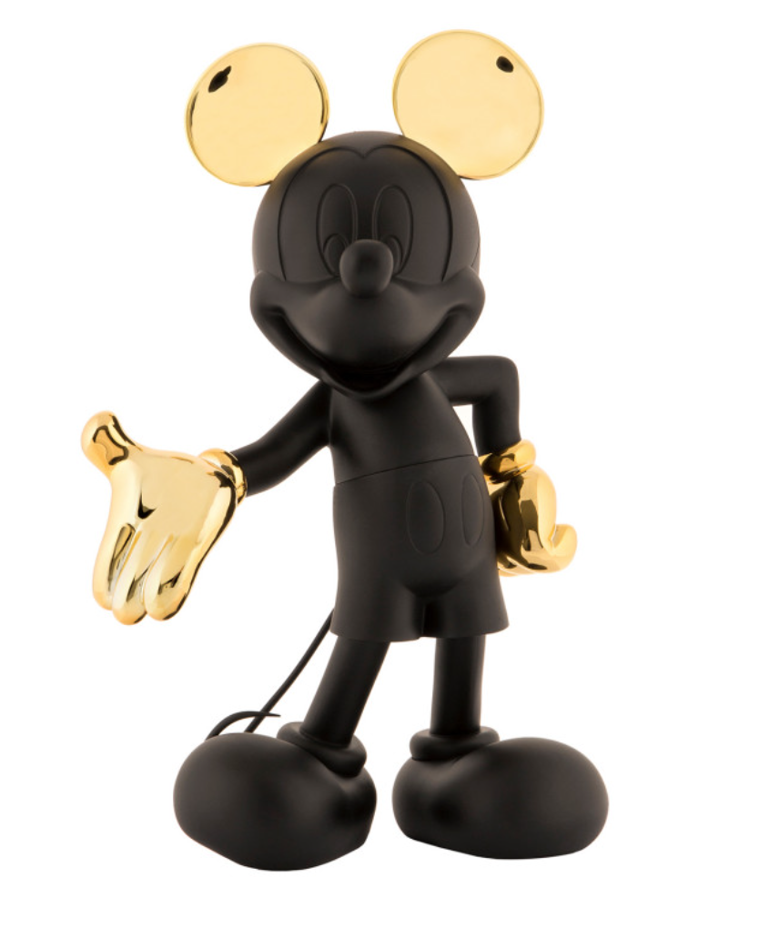 Mickey Welcome Bicolor Black & Gold 30cm-2