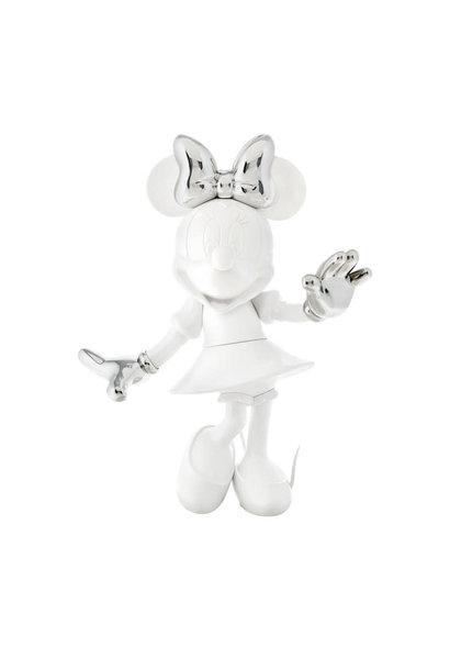 Minnie Welcome Bicolore Blanc & Argent 30cm