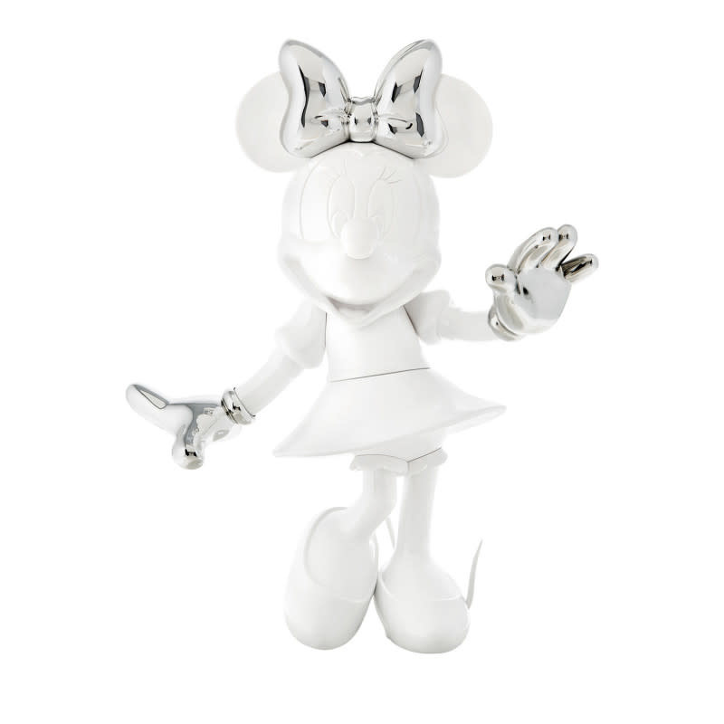 Minnie Welcome Bicolor White & Silver 30cm-1
