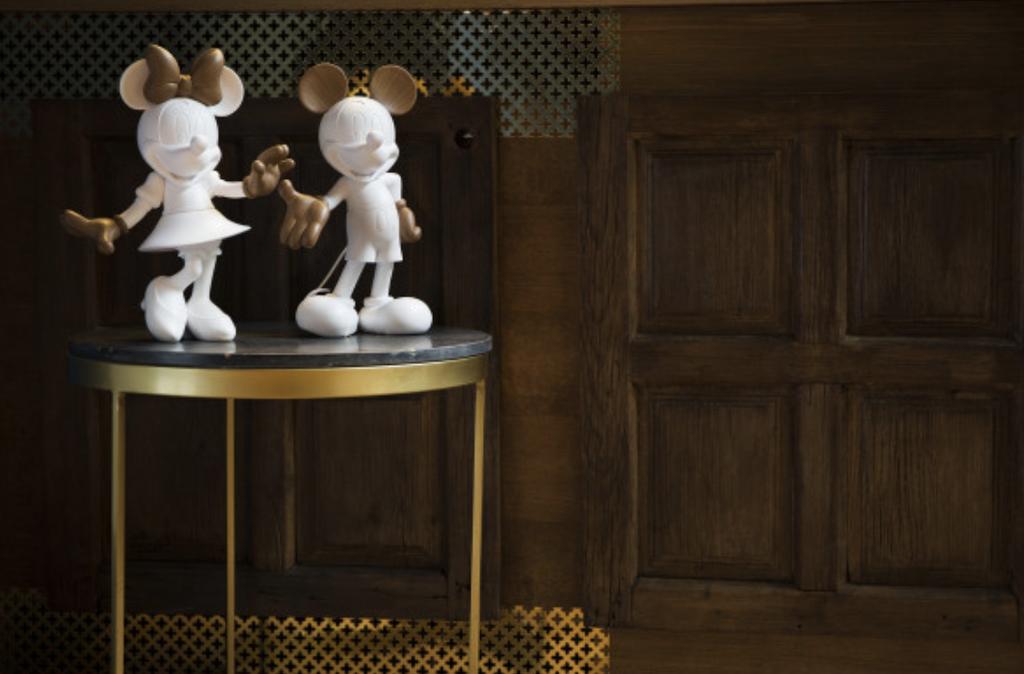Mickey Welcome Wood 30 cm-4