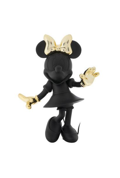 Minnie Welcome Bicolore Noir & Or 30cm