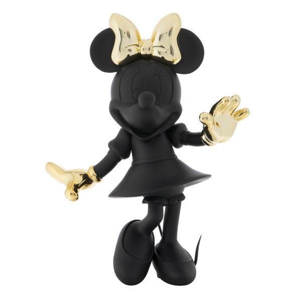 Minnie Welcome Bicolore Black & Gold 30cm-1