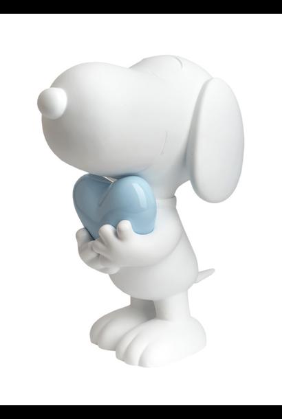 Snoopy coeur Blanc & Bleu pastel 27cm