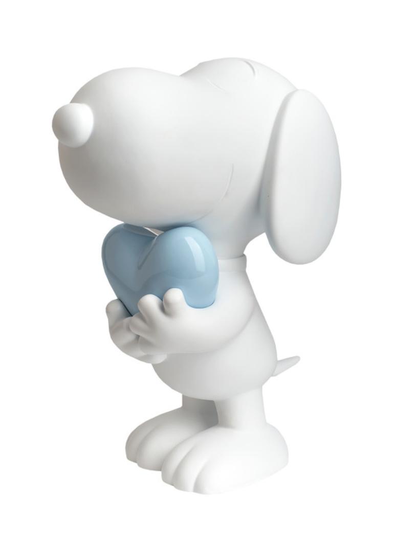Snoopy heart White & Pastel Blue 27cm-1