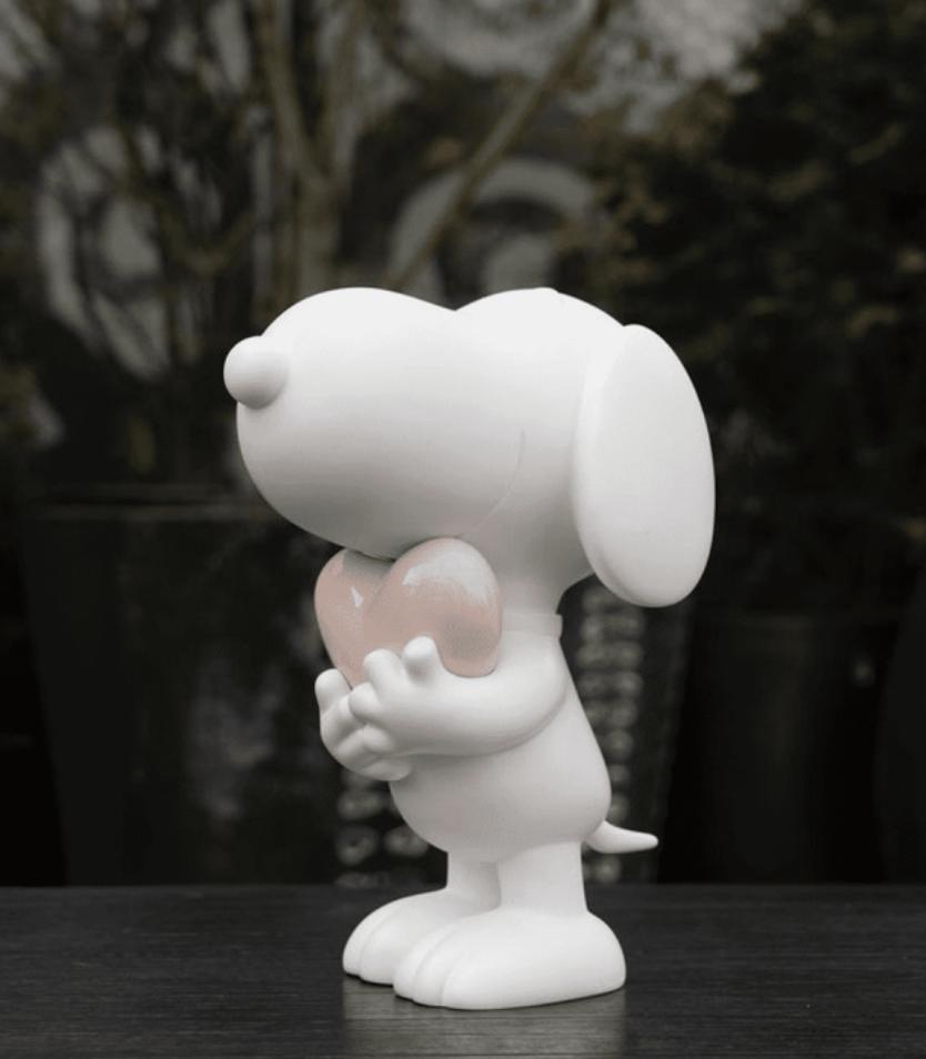 Snoopy heart Mat White & Pastel Pink 27cm-2