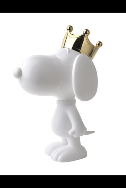 Snoopy couronne Chrome Or & Blanc 31 cm