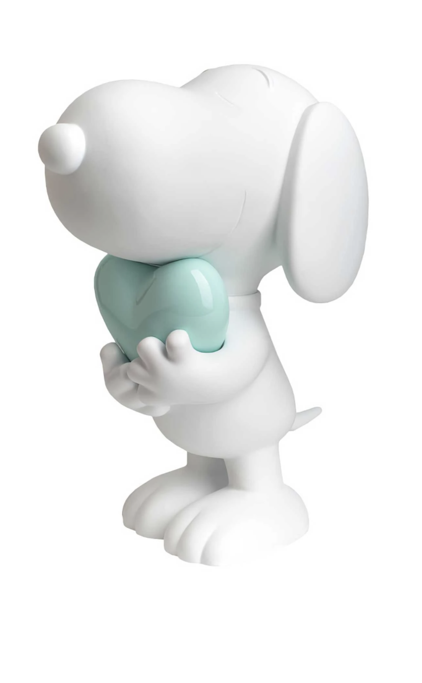 Snoopy heart White & Pastel Green 27cm-1