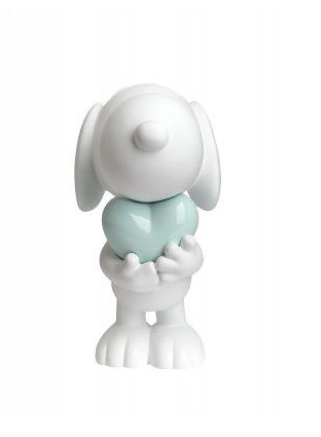 Snoopy heart White & Pastel Green 27cm-2