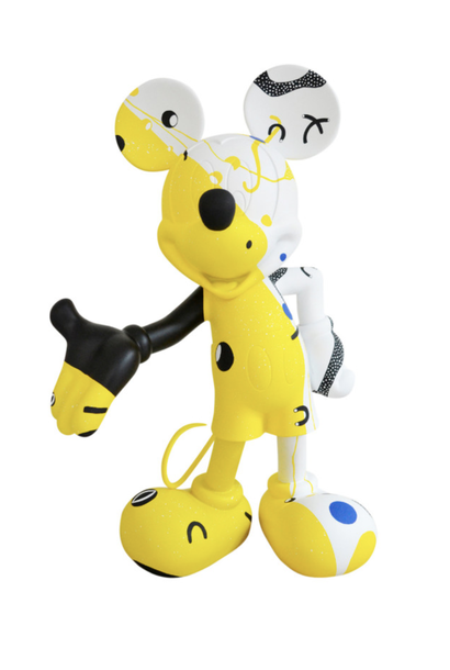 Mickey Cosmic Jaune par Thomas Dariel 30cm
