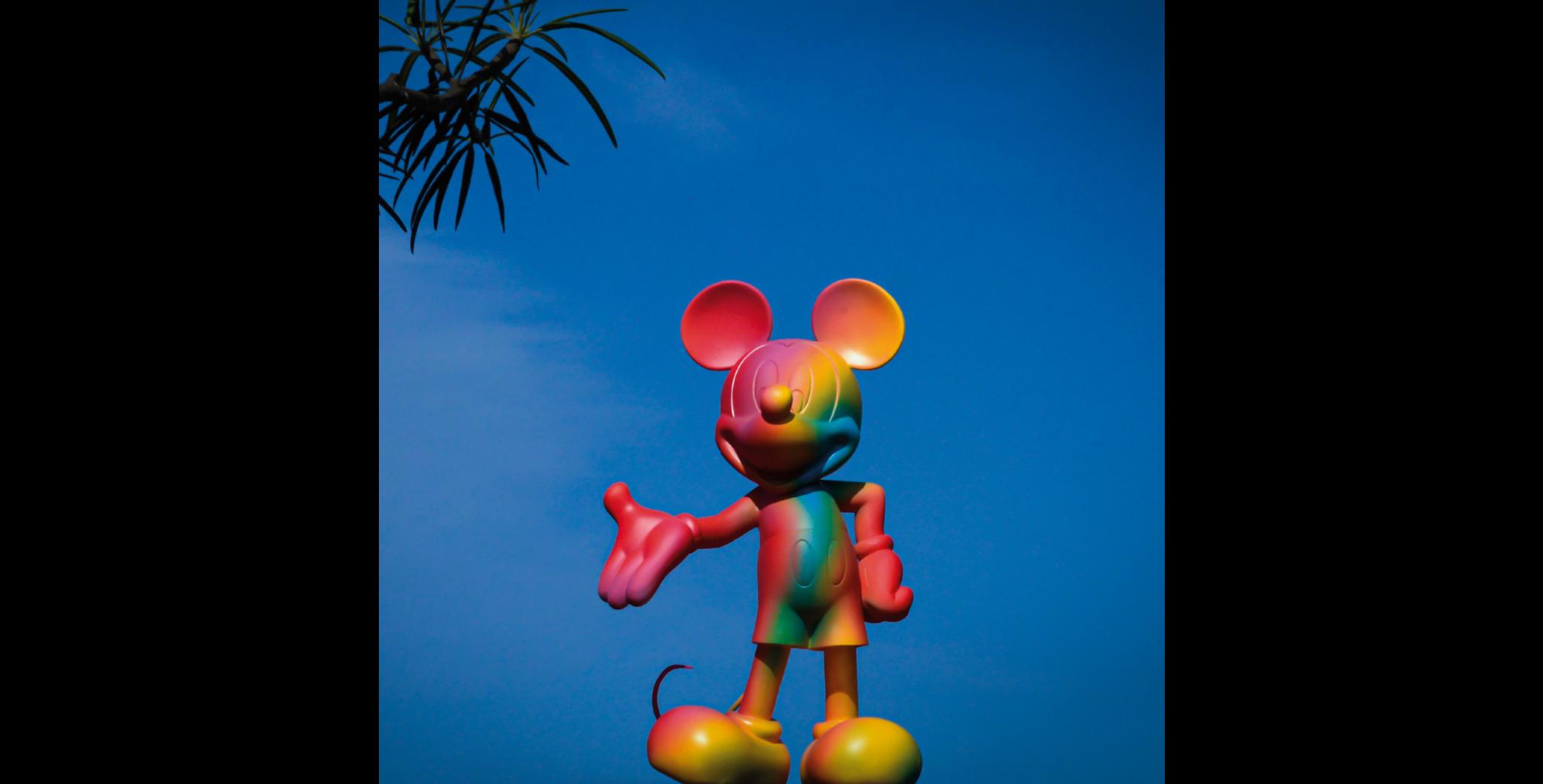 Mickey Welcome Rainbow 30cm-3