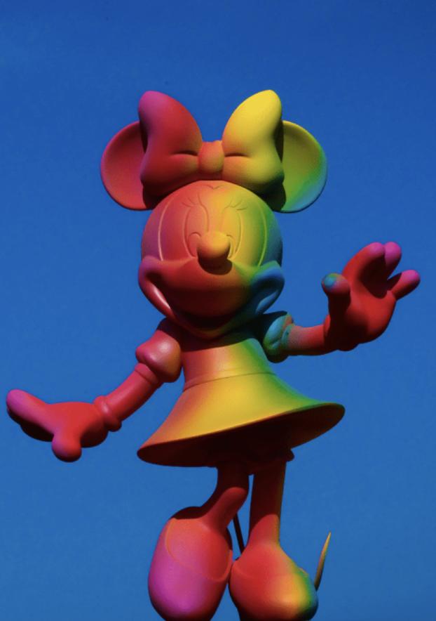 Minnie Welcome Rainbow 30cm-2