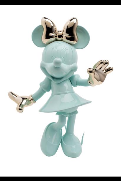 Minnie Welcome Vert Pastel & Or Rose 30cm