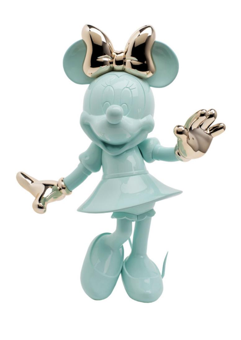 Minnie Welcome Pastel Green & Pink Gold  30cm-1