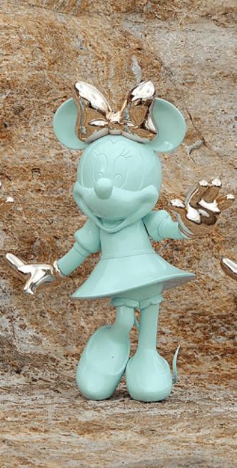 Minnie Welcome Pastel Green & Pink Gold  30cm-2