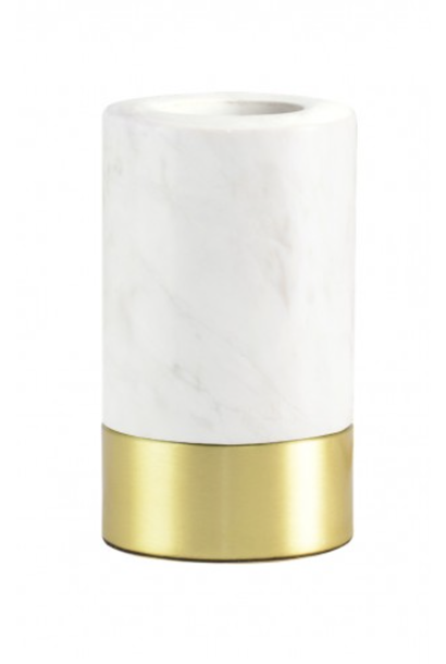 Romance White Marble Base With Dimmer Switch 12 cm